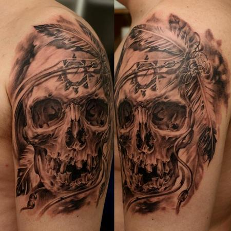 Tattoos - Indian Skull - 63848